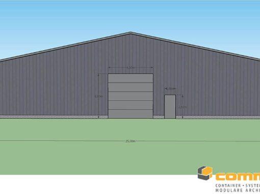 Neubau Halle für Fahrzeuge mit ca. 1000m²