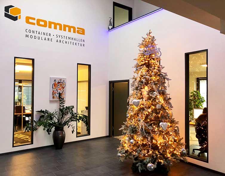 Comma Container wünscht frohe Weihnachten