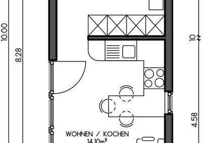 Containerhaus Wohn, Gästehaus, Wochenendhaus Variante 2