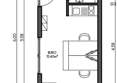 Containerhaus, Modularer Aufbau als Büro / Praxis - Variante 2