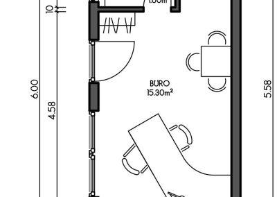 Containerhaus Modularer Aufbau als Büro / Praxis - Variante 1