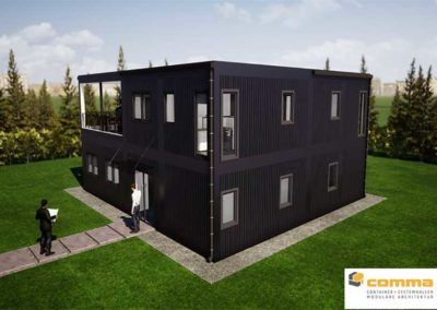 Containerbau Visualisierung