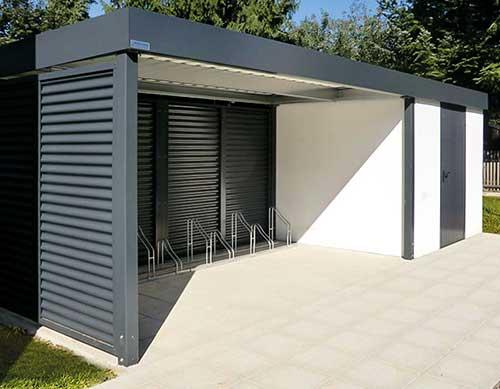 Geräteraum aus Stahl