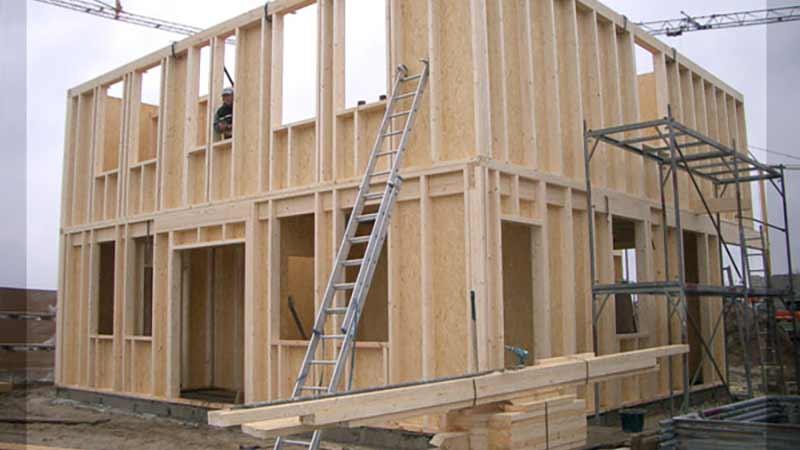 Holzrahmenbau konstruktion  Holzrahmenbau, Container, Holzbau, Holzbausysteme
