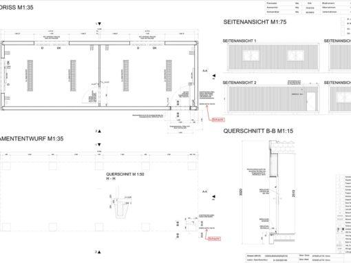 Neubau 10m Homefly als Büroanlage