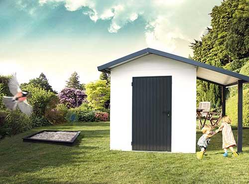 Gerätehaus mit Satteldach
